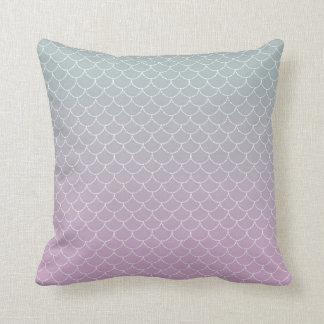 Cute mermaid pattern throw pillow