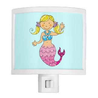 cute mermaid princess (blonde hair) night light