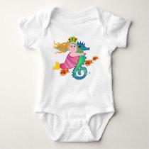 Cute mermaid sea horse T-shirt