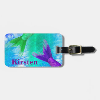 Cute Mermaid Tails & Blue Scales Bag Tag