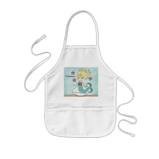 Cute mermaid to personalize kids' apron