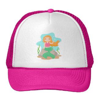 Cute Mermaid under the sea, for Girls Trucker Hats