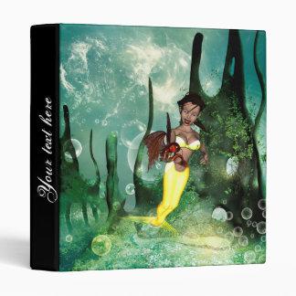 Cute mermaid with fantasy fish binder