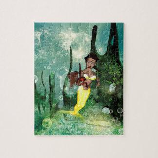 Cute mermaid with fantasy fish jigsaw puzzle