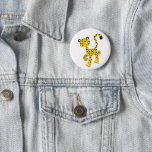 Cute Merry Cartoon Cheetah Button