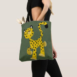 Cute Merry Cartoon Cheetah Tote Bag