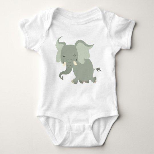 Cute Merry Cartoon Elephant Baby Apparel Baby Bodysuit