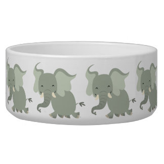 Cute Merry Cartoon Elephant Pet Bowl