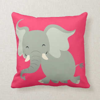 Cute Merry Cartoon Elephant Pillow