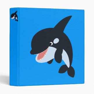Cute Merry Cartoon Killer Whale Avery Binder