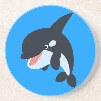 Cute Merry Cartoon Killer Whale Coaster