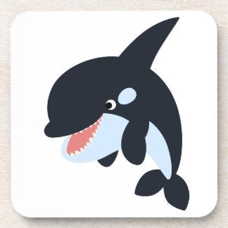 Cute Merry Cartoon Killer Whale Coasters Set