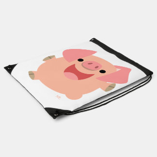 Cute Merry Cartoon Pig Drawstring Backpack