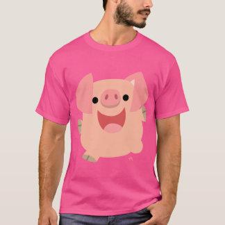Cute Merry Cartoon Pig T-Shirt