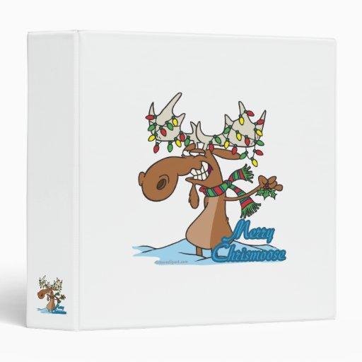 cute merry chrismoose silly christmas moose binder