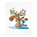 cute merry chrismoose silly christmas moose flyer