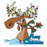 cute merry chrismoose silly christmas moose photo cutout