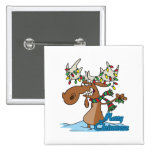 cute merry chrismoose silly christmas moose pins