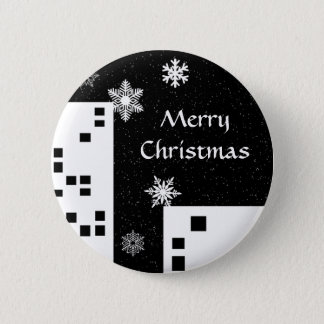 Cute Merry Christmas button