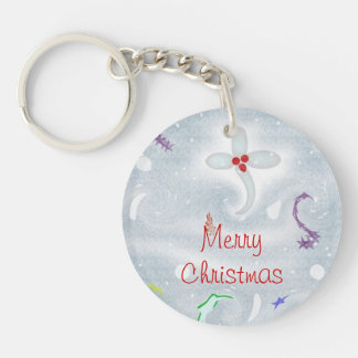 Cute Merry Christmas Decorations Keychain