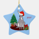 Cute Merry Christmas Donkey Christmas Tree Ornaments