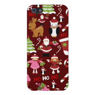 Cute Merry Christmas Xmas Holiday Pattern Cover For iPhone SE/5/5s