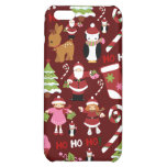 Cute Merry Christmas Xmas Holiday Pattern Case For iPhone 5C