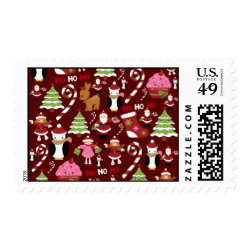 Cute Merry Christmas Xmas Holiday Pattern Stamps