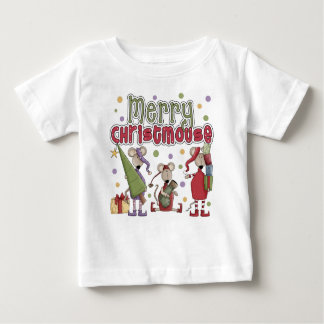 Cute Merry Christmouse Baby T-Shirt