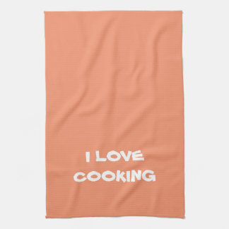 """Cute MESSAGE """"I LOVE COOKING"""" Kitchen Towel"""