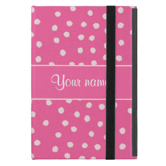 Cute Messy White Polka Dots Pink Background Case For iPad Mini