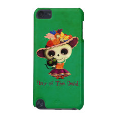 Cute Mexican Day Of The Dead Girl Ipod Touch (5th Generation) Case at Zazzle