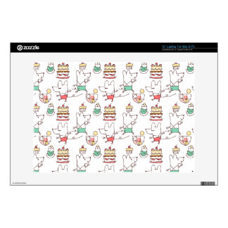 """Cute Mice Bakery Chef Drawing 13"""" Laptop Decal"""