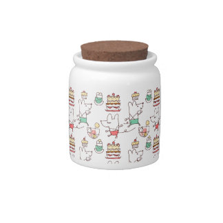 Cute Mice Bakery Chef Drawing Candy Dish