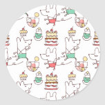 Cute Mice Bakery Chef Drawing Classic Round Sticker