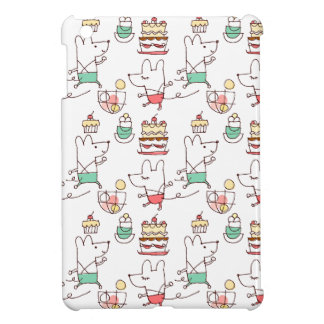 Cute Mice Bakery Chef Drawing Cover For The iPad Mini