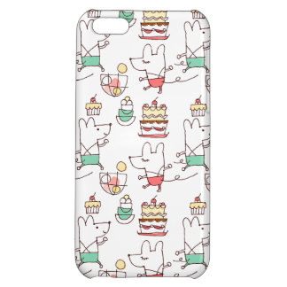 Cute Mice Bakery Chef Drawing iPhone 5C Covers