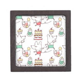 Cute Mice Bakery Chef Drawing Keepsake Box