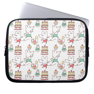 Cute Mice Bakery Chef Drawing Laptop Sleeve