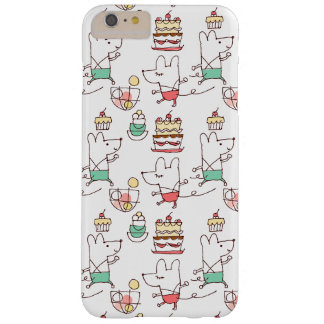 Cute Mice Bakery Chef Drawing Pattern Barely There iPhone 6 Plus Case