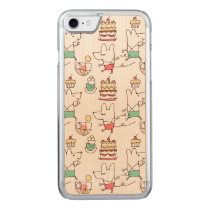 Cute Mice Bakery Chef Drawing Pattern Carved iPhone 7 Case