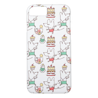Cute Mice Bakery Chef Drawing Pattern iPhone 8/7 Case