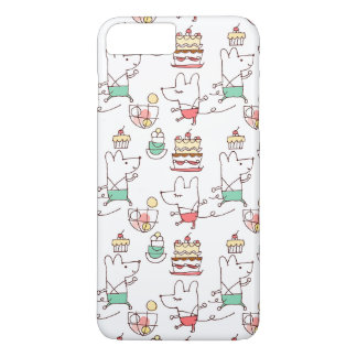Cute Mice Bakery Chef Drawing Pattern iPhone 8 Plus/7 Plus Case