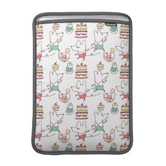 Cute Mice Bakery Chef Drawing Sleeve For MacBook Air