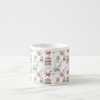 Cute Mice Bakery Chef Drawing 6 Oz Ceramic Espresso Cup