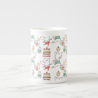 Cute Mice Bakery Chef Drawing Tea Cup