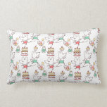 Cute Mice Bakery Chef Drawing Throw Pillows