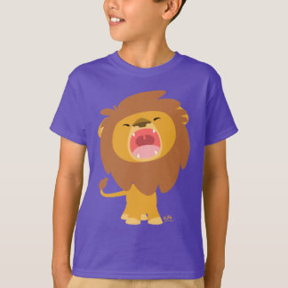 Cute Mighty  Roaring Lion Cartoon Children T-shirt