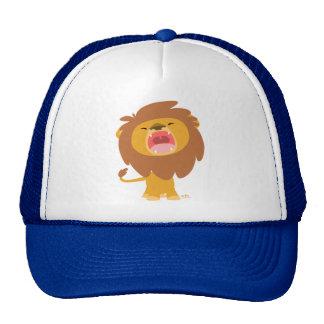 Cute Mighty  Roaring Lion Cartoon Hat