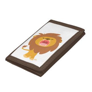 Cute Mighty  Roaring Lion Cartoon Wallet